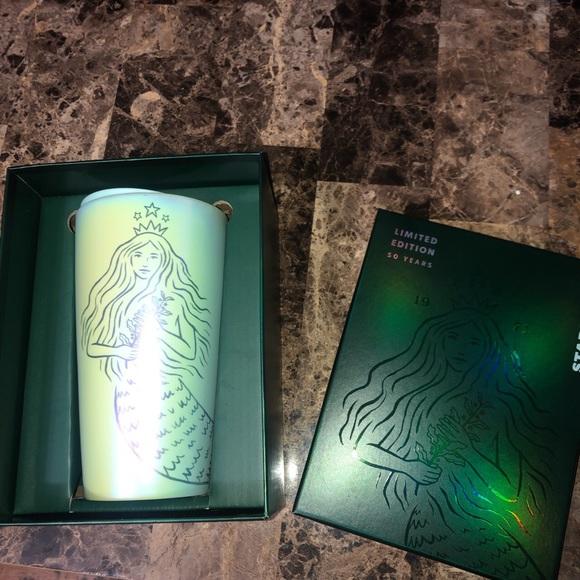 Starbucks Siren Ceramic Tumbler 50thAnniversary